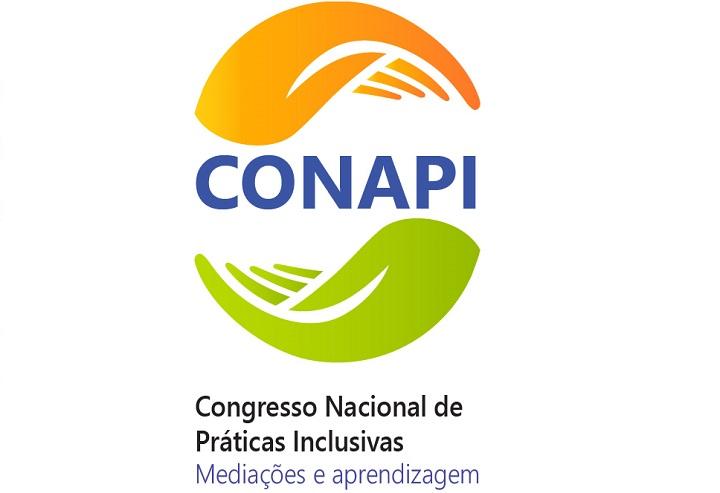 Logo do evento mostra duas mãos, uma laranja e outra verde, formando um círculo em volta da sigla Conapi