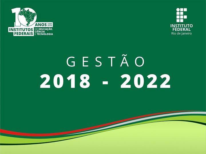 arte em verde, escrita em branco, gestão 2018-2022