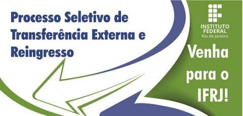 cartaz em branco, verde e azul, setas azul e verde, escrita em branco e azul, logo do ifrj branca