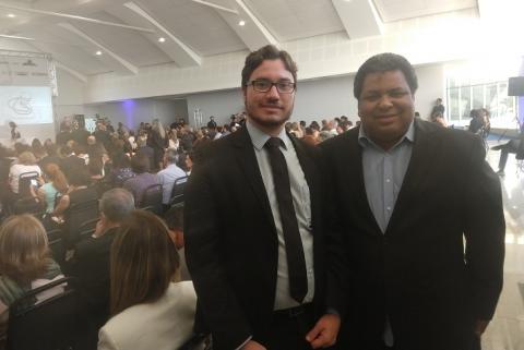Reitor Rafael Almada e pró-reitor Rodney Albuquerque no prêmio CAPES em Tese 2018