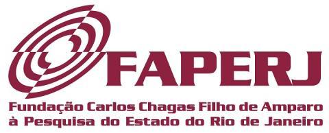 """cartaz branco, escrita em vermelho """"Fundação de Amparo à Pesquisa do Estado do Rio de Janeiro (FAPERJ)"""""""